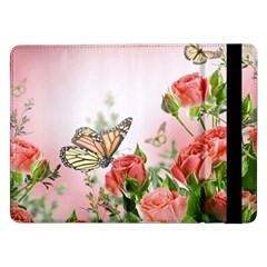Flora Butterfly Roses Samsung Galaxy Tab Pro 12 2  Flip Case