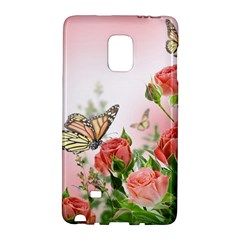 Flora Butterfly Roses Galaxy Note Edge