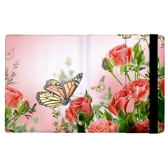 Flora Butterfly Roses Apple Ipad Pro 9 7   Flip Case by BangZart