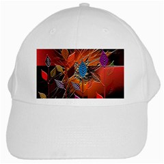 Colorful Leaves White Cap by BangZart