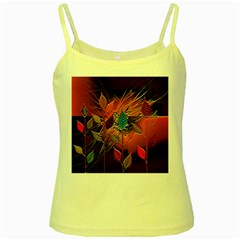 Colorful Leaves Yellow Spaghetti Tank