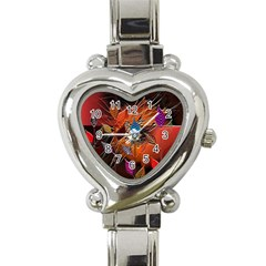 Colorful Leaves Heart Italian Charm Watch by BangZart