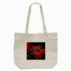 Colorful Leaves Tote Bag (cream)