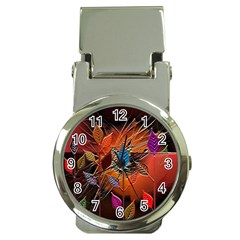 Colorful Leaves Money Clip Watches