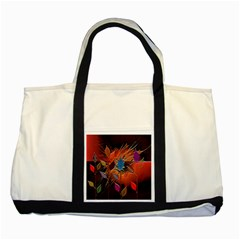Colorful Leaves Two Tone Tote Bag by BangZart