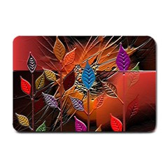 Colorful Leaves Small Doormat  by BangZart