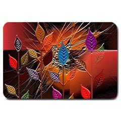 Colorful Leaves Large Doormat  by BangZart