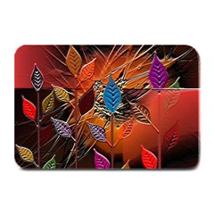 Colorful Leaves Plate Mats by BangZart