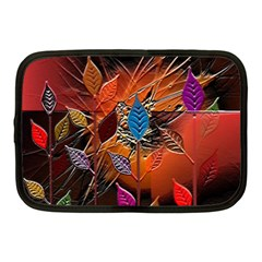 Colorful Leaves Netbook Case (medium)