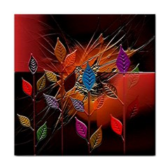 Colorful Leaves Face Towel