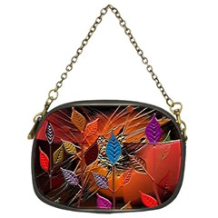 Colorful Leaves Chain Purses (two Sides)