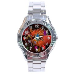 Colorful Leaves Stainless Steel Analogue Watch by BangZart