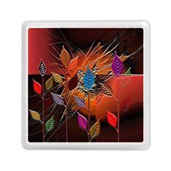 Colorful Leaves Memory Card Reader (square)