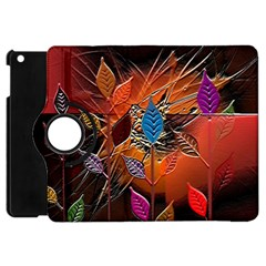 Colorful Leaves Apple Ipad Mini Flip 360 Case