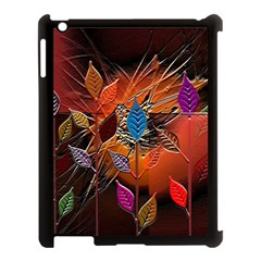 Colorful Leaves Apple Ipad 3/4 Case (black)