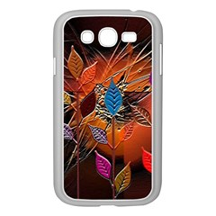 Colorful Leaves Samsung Galaxy Grand Duos I9082 Case (white)