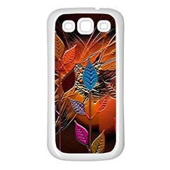 Colorful Leaves Samsung Galaxy S3 Back Case (white)