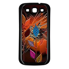 Colorful Leaves Samsung Galaxy S3 Back Case (black)
