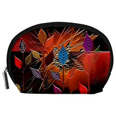 Colorful Leaves Accessory Pouches (large)