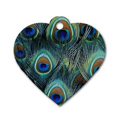 Feathers Art Peacock Sheets Patterns Dog Tag Heart (one Side)