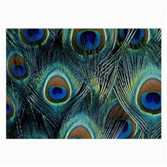 Feathers Art Peacock Sheets Patterns Large Glasses Cloth