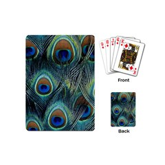 Feathers Art Peacock Sheets Patterns Playing Cards (mini)