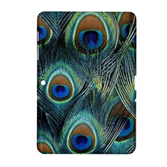 Feathers Art Peacock Sheets Patterns Samsung Galaxy Tab 2 (10 1 ) P5100 Hardshell Case  by BangZart
