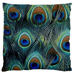 Feathers Art Peacock Sheets Patterns Large Flano Cushion Case (one Side)