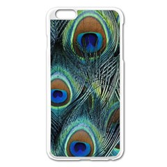 Feathers Art Peacock Sheets Patterns Apple Iphone 6 Plus/6s Plus Enamel White Case