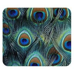 Feathers Art Peacock Sheets Patterns Double Sided Flano Blanket (small)
