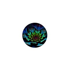Fractal Flowers Abstract Petals Glitter Lights Art 3d 1  Mini Buttons