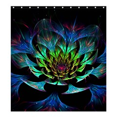 Fractal Flowers Abstract Petals Glitter Lights Art 3d Shower Curtain 66  X 72  (large)