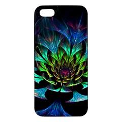 Fractal Flowers Abstract Petals Glitter Lights Art 3d Apple Iphone 5 Premium Hardshell Case