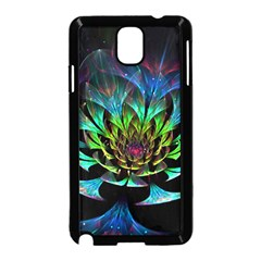 Fractal Flowers Abstract Petals Glitter Lights Art 3d Samsung Galaxy Note 3 Neo Hardshell Case (black)
