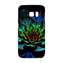 Fractal Flowers Abstract Petals Glitter Lights Art 3d Galaxy S6 Edge by BangZart
