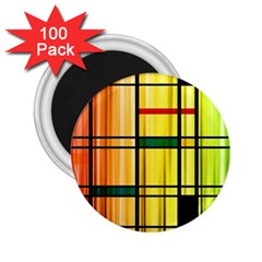 Line Rainbow Grid Abstract 2 25  Magnets (100 Pack)