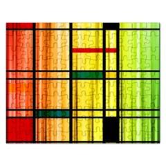 Line Rainbow Grid Abstract Rectangular Jigsaw Puzzl