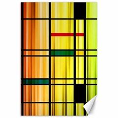Line Rainbow Grid Abstract Canvas 24  X 36