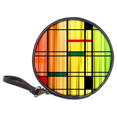 Line Rainbow Grid Abstract Classic 20 Cd Wallets by BangZart