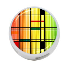 Line Rainbow Grid Abstract 4 Port Usb Hub (one Side) by BangZart