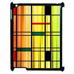 Line Rainbow Grid Abstract Apple Ipad 2 Case (black)