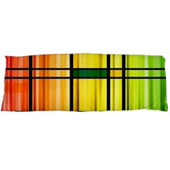 Line Rainbow Grid Abstract Body Pillow Case Dakimakura (two Sides)