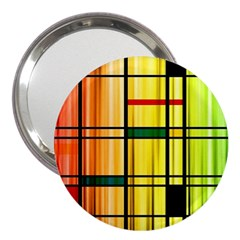 Line Rainbow Grid Abstract 3  Handbag Mirrors