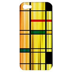 Line Rainbow Grid Abstract Apple Iphone 5 Hardshell Case by BangZart