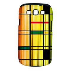 Line Rainbow Grid Abstract Samsung Galaxy S Iii Classic Hardshell Case (pc+silicone)