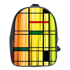 Line Rainbow Grid Abstract School Bags (xl)