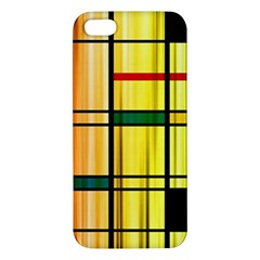 Line Rainbow Grid Abstract Apple Iphone 5 Premium Hardshell Case