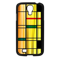 Line Rainbow Grid Abstract Samsung Galaxy S4 I9500/ I9505 Case (black)