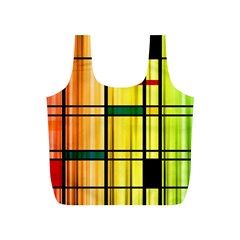 Line Rainbow Grid Abstract Full Print Recycle Bags (s)
