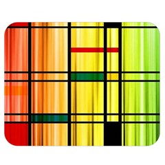 Line Rainbow Grid Abstract Double Sided Flano Blanket (medium)